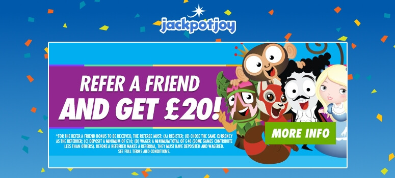 Jackpotjoy Bingo | refer a friend and get £20