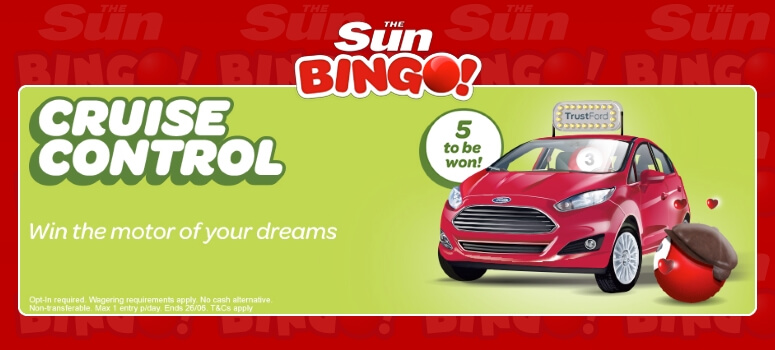 Sun Bingo | Win a Ford Fiesta Car