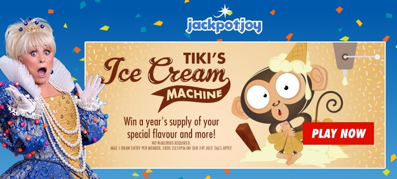 Jackpotjoy Bingo | Win a years supply of ice cream and £500