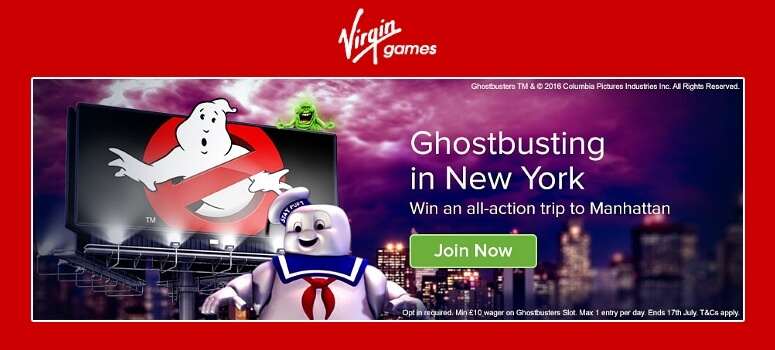 Virgin Bingo | Win a Ghsotbusters Trip to New York