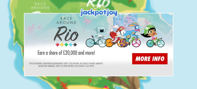 Jackpotjoy Bingo | Race around Rio for £20K