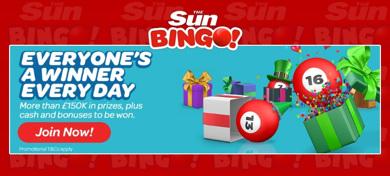 Sun Bingo | Win a daily share of £150K in Prizes