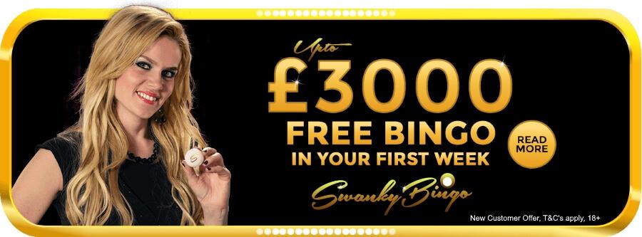 Swanky Bingo - Free Bingo - No Deposit Bingo