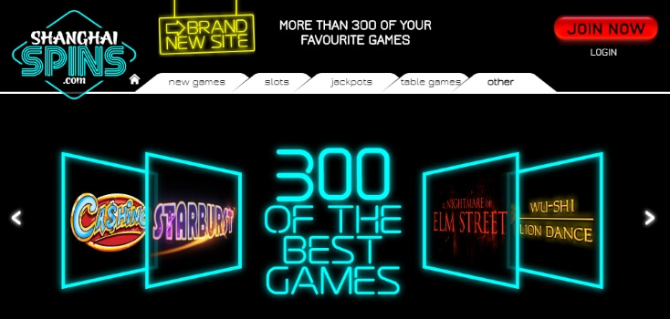 Shanghai Spins | Over 300 online casino games