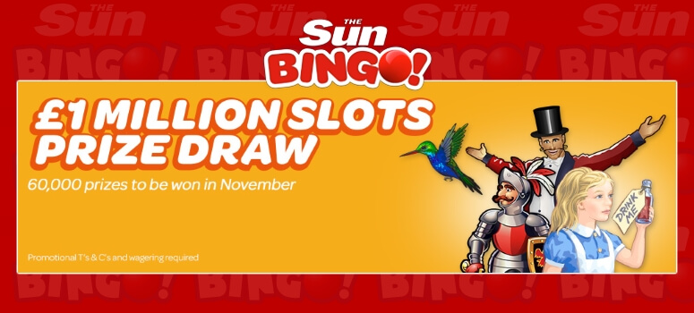 Sun Bingo | Join in the £1 Million Slots Prize Draw