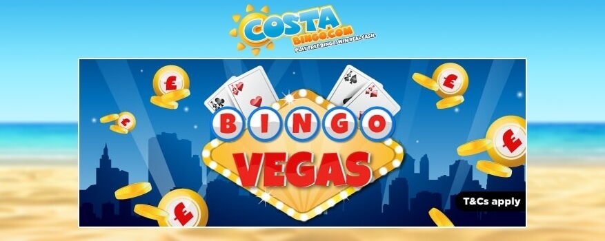 Bingo Vegas Game at Cost Bingo | 5 Star Bingo