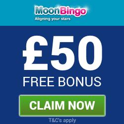 Moon Bingo | £50 Free Bingo Bonus
