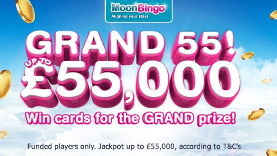 Moon Bingo | Win up to £55K