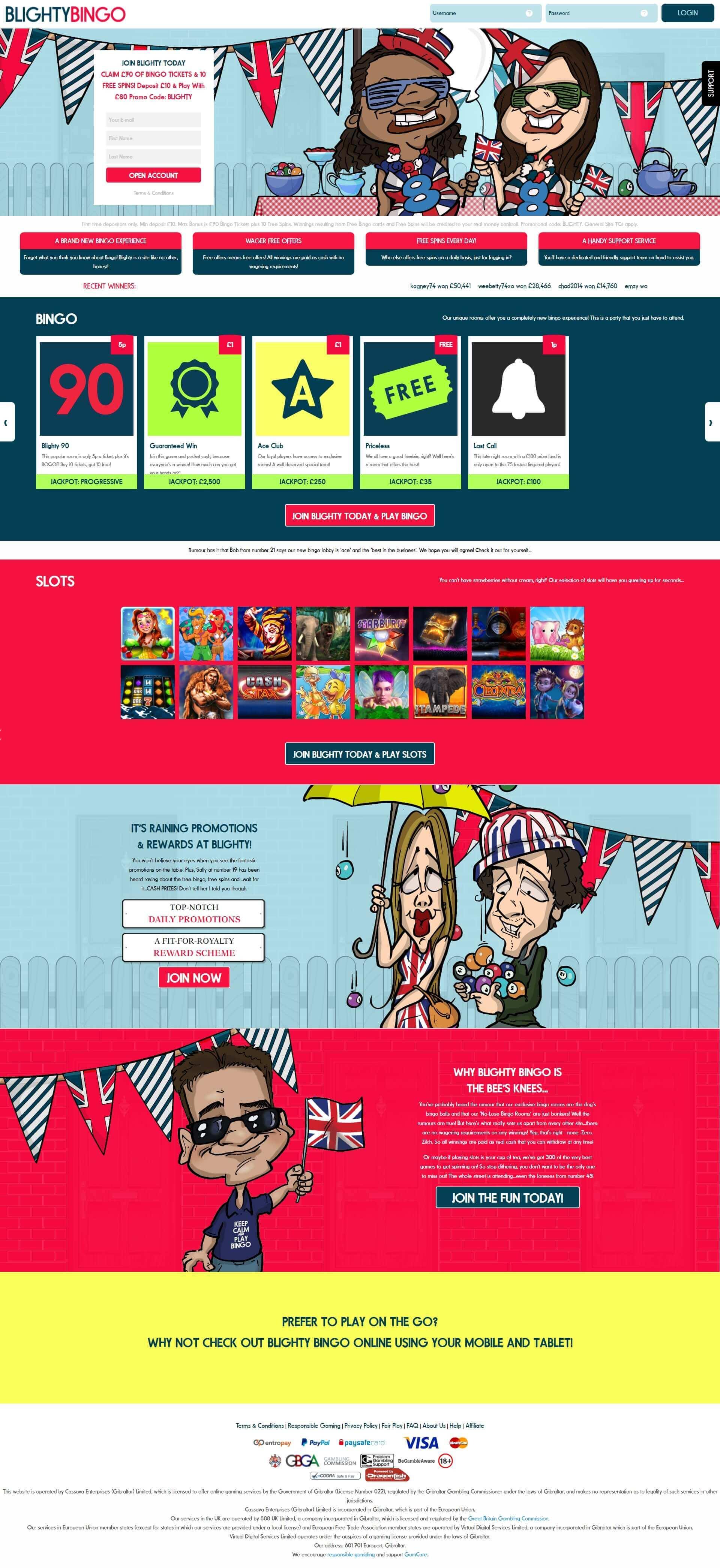 Blighty Bingo | Wager Free Online Bingo
