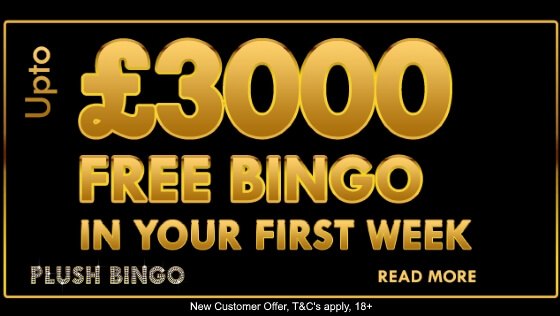 Plush Bingo | Free Bingo | No Deposit Bingo