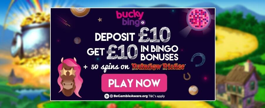bucky-bingo-50-free-spins-rainbow-riches-5-starbingo