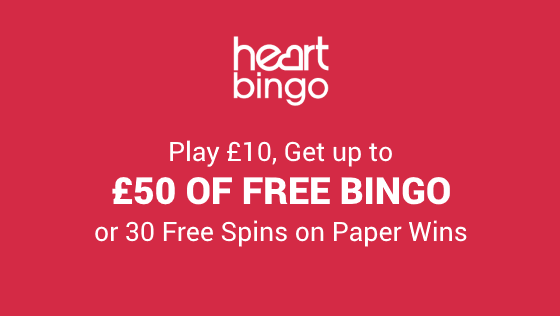 Heart Bingo | Play £10 and get up to £50 of Free Bingo or 30